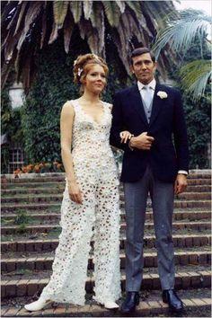 1969 - Diana Rigg & George Lazenby - Au service de sa magesté  / Photo DR......mr. and mrs. James Bond