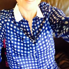 Check mate 💙 by Linda Personal Taste, March 2014, Button, Tees, Blouse, Check, Style, Fashion, Swag
