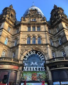 The superb #architecture of the facade of #Leeds City #Markets. #Yorkshire #England #building #symmetry #travel #tourism #tourist #retail
