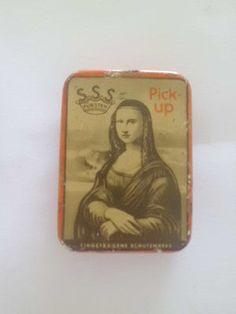 Vintage Phonograph Gramophone Needle Tin Box Mona Lisa | eBay