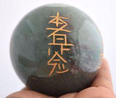 1495 Cts Awesome Look Aventurine Gemstone Ball Size 55 mm With Cho Ku Rei E303 #valueforbucks