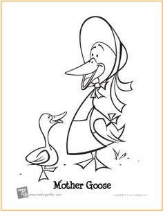 mother goose free printable coloring page