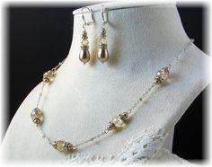 New Swarovski Golden Shadow Crystal/Bronze by HisJewelsCreations, $38.00