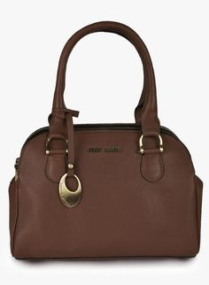 Pure Leather Satchel Handbag In Rich Brown By Phive Rivers. This Handbag Has 3 Spacious Zipped Compartments To Keep You Organized. The Flat Base Will Ensure When You Set It Down It Will Not Slouch Over. Features Soft And Sturdy Handles. Tan Handbags, Leather Satchel Handbags, Handbags On Sale, Leather Bag, Womens Fashion Stores, Bag Sale, Mini Bag, Rivers, Pure Products
