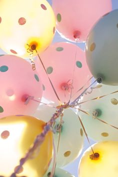 Painted Polka Dot Balloons