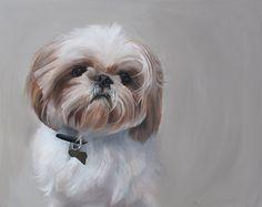 dog portrait paintings by artist b. Johnson