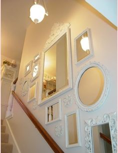 "Bottom Looking Up I've shared with you several times that I live in a pretty two story home built in 1970. Decorating this charming ""diamo..."