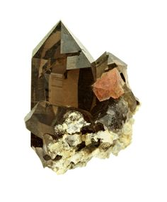 i would like to paint something like this,     Quartz with Fluorite from France