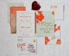 """Que coisa mais linda!!! To encantando com esse convite! O que vcs acham? - The """"Hoobery's"""" wedding material"""