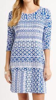 Batik Print Knit Dress