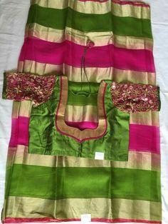 Patch Work Blouse Designs, Simple Blouse Designs, Saree Blouse Neck Designs, Saree Blouse Patterns, Designer Blouse Patterns, Blouse Models, Siri, Growing Sunflowers, Designers