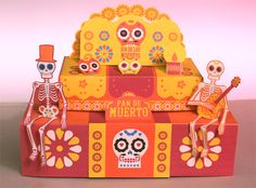 how to make an ofrenda for day of the dead template paper craft