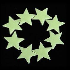 15 étoile stickers Phosphorescents Glow in the dark top