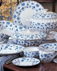 Spode Blue Colonel Platinum...this is my china pattern and I still love it!