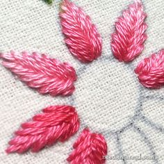 Fishbone Stitch in Embroidery