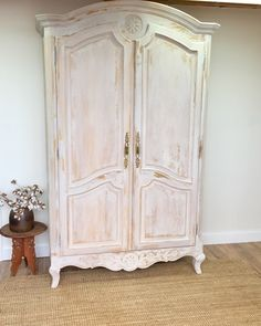 This bedroom Armoire will add lots of function and elegance to your space. It will enhance your French country style decor with it's ornate trim and details. This piece can be used in many different areas of your home. It will make a lovely foyer piece for storage of sweaters, gloves, shoes and much more. ...
