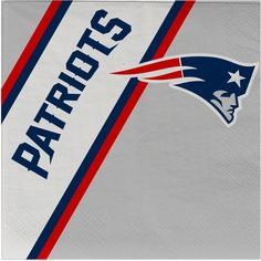 Complete your picnic or tailgate party with this pack of 20 disposable napkins. This pack of officially licensed NFL napkins features your favorite teams logos and colors. The napkins are inches in size. Each pack includes 20 napkins. Made By Duck House New England Patriots Logo, Patriots Fans, Nfl, Go Pats, Duck House, Sports Graphic Design, Sports Fan Shop, American Football, Patriots