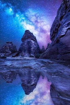 Reflected milky way, Saudi Arabia #mywatergallery