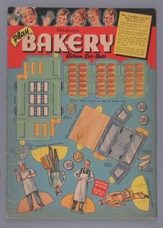 Pillsbury's Play Bakery Action Cut-outs   paper doll