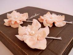 CHLOE+Silk+Flower+Lace+Vintage+Pearl+Bridal+Hair+by+ZoeGraceBlooms,+$18.00