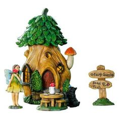 Winsome House Treehouse Miniature Fairy 5 Piece Garden Set - WH012