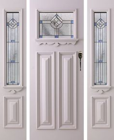 leadlight windows suitable for california bungalow Timber Front Door, Front Door Entrance, House Front Door, Front Door Decor, Entry Doors, Doorway, Entryway, Bungalow Interiors, Bungalow Renovation