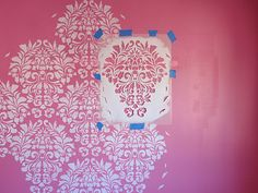 DIY by Design: Little Girl's Room Reveal and Royal Design Studio Stencil Giveaway