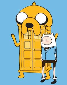 doctor who meets adventure time !