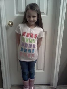 100th day of school shirt made out of ribbons!