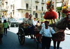 Riding Monreale's painted cart