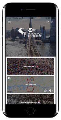Marathon Rotterdam 2017 app is vernieuwd