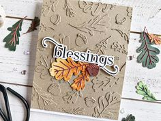 Creating an Autumn Tone-on-Tone Diecut Background with Heather – The Greetery Blog