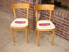 Vintage Coca Cola Ice Ceam Shop Chairs by Ctconsigns on Etsy, $35.00