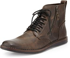 John Varvatos Star USA Barrett Side-Zip Boot, Gray