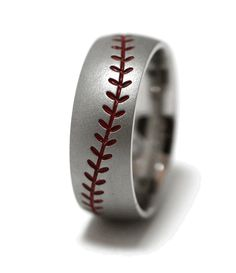 Baseball Stitch Ring-for him... ill have to keep this one in mind! <3
