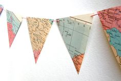 map bunting!