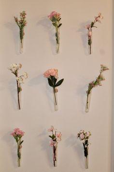 Room Ideas Bedroom, Diy Bedroom Decor, Pinterest Wall Decor, Flower Room Decor, Hanging Flower Wall, Aesthetic Room Decor, Flower Aesthetic, My New Room, Flower Vases