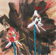 Huang YongYu (1924- ) Japanese Painting, Chinese Painting, Japanese Art, Chinese Brush, Chinese Art, Lotus Art, Chinese Culture, Ink Painting, Asian Art