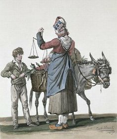 The Cherry Seller by Antoine Charles Horace Vernet