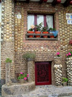 Shell house in a seafaring village, Spain.