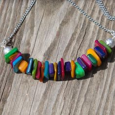Candy Fields  Mother of Pearl Necklace on by ReasonablyRustic, $26.00