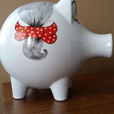 Waechtersbach Pop Art Enameled Piggy Bank