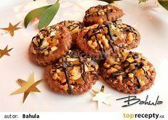Florentýnky recept - TopRecepty.cz Christmas Candy, Christmas Baking, Christmas Cookies, Czech Recipes, Ethnic Recipes, Baked Goods, Baking Recipes, Almond, Stuffed Mushrooms