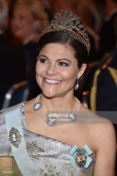 Crown Princess Victoria of Sweden attends the Nobel Prize Banquet 2015 at City Hall on December 10, 2016 in Stockholm, Sweden.  (Photo by Pascal Le Segretain/Getty Images)