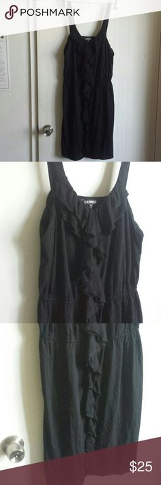 Express black ruffled xasual summer dress Dress with ruffles. From Express. Express Dresses