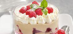 Mokka-Trifle mit marinierten Himbeeren