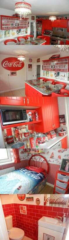 Coca Cola Obsessed Woman Turns Her Home into a Shrine to the Popular Drink Read More: http://www.odditycentral.com/news/coca-cola-obsessed-woman-turns-her-home-into-a-shrine-to-the-popular-drink.html