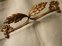 Pair Of Antique French Cast Bronze Curtain Hold/Tie Backs