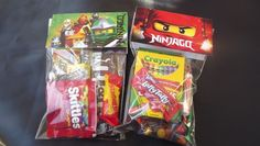 Ninjago candy bags for birthdays, party favors set of 8 green ninja  | sprinkledwithgrace - Children's on ArtFire