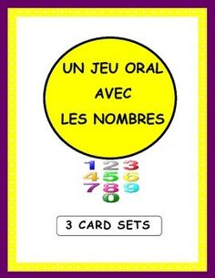 French Numbers Game:  Le cercle magique avec les nombres.  Card sets that accommodate class sizes from 20 - 32 participants.  Excellent oral production activity for reinforcing French numbers at all grade levels.